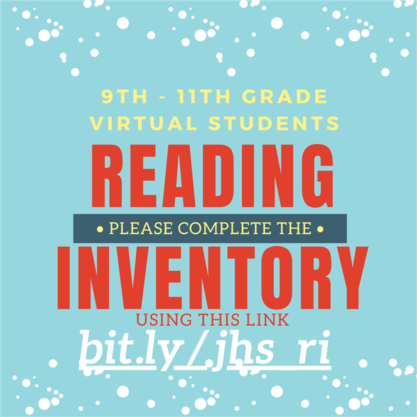 Reading Inventory: Virtual students please click here and complete.